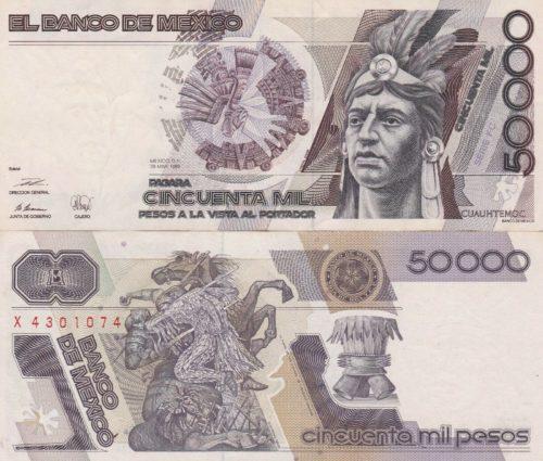 50000 pesos 1987