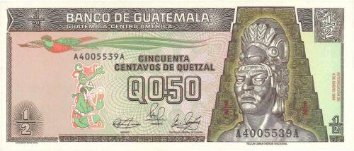 Recto 50 centavos de Quetzal