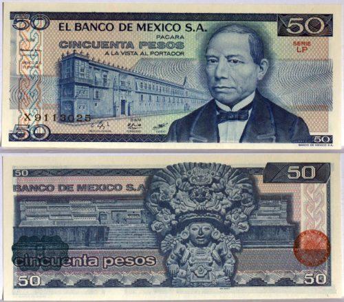 50 pesos 1973-1981
