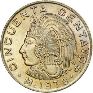 Revers 50 centavos 1979