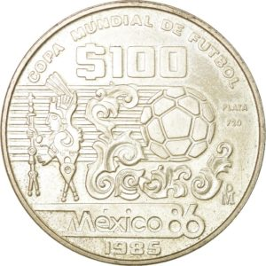 Revers 100 pesos 1985
