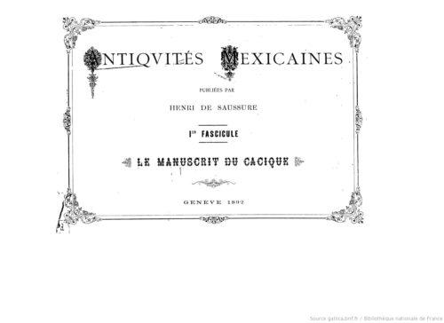 Antiquités mexicaines