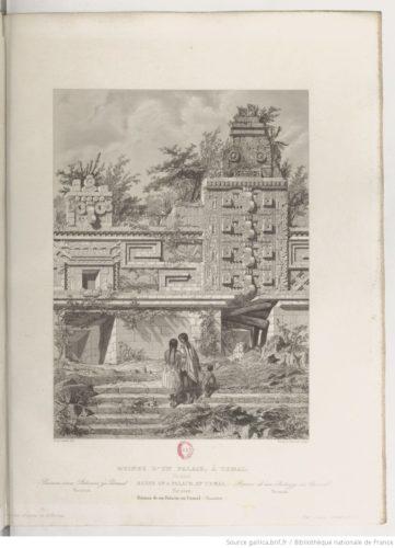 Ruines d'un palais, à Uxmal