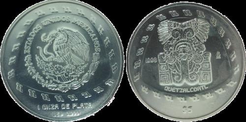 5 pesos Quetzalcóatl