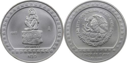 5 nuevos pesos Xochipilli