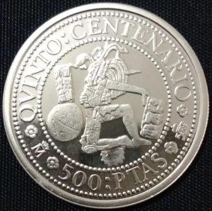Revers 500 pesetas