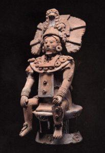 Figurine de seigneur assis, culture Maya (Jaina, Campeche, Mexique), 600-900 ap. J.C.