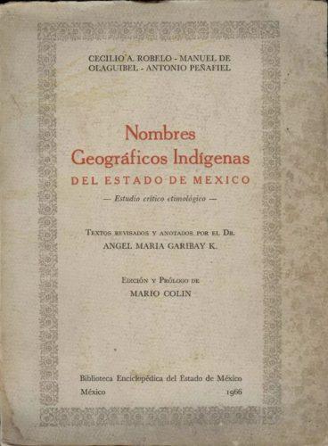 Nombres geográficos indígenas del estado de México