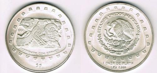 5 pesos Serpiente con cráneo