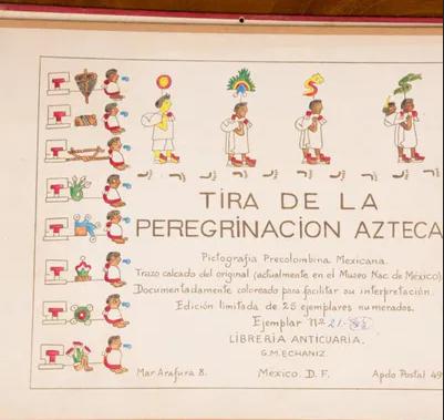 Tira de la Peregrinación azteca