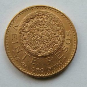 Revers 20 pesos : Piedra del sol