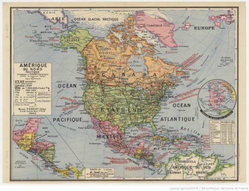 Amérique du Nord politique / dressée par J. Forest...