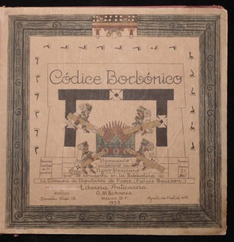 Códice Borbonico : page de titre