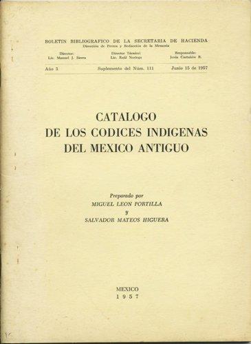 Catálogo de los códices indigenas del México antiguo