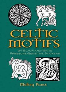 Celtic Motifs: 24 Black-and-White Pressure-Sensitive Stickers