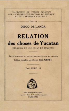 Relation des choses de Yucatan