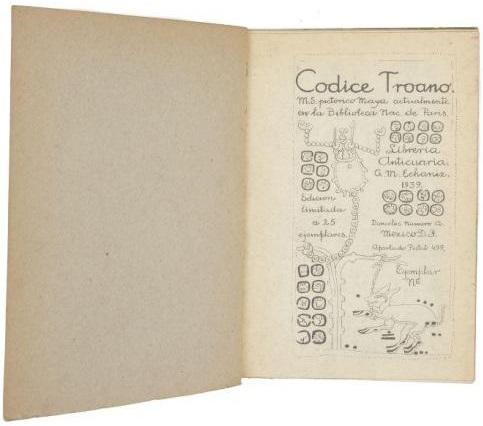 Codice Troano : page de titre