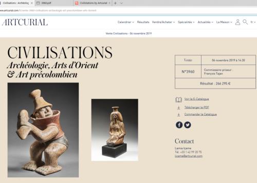 Exemple d'archive du site Artcurial