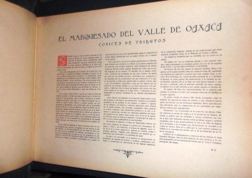 Códices indígenas de algunos pueblos del Marquesado del Valle de Oaxaca : présentation