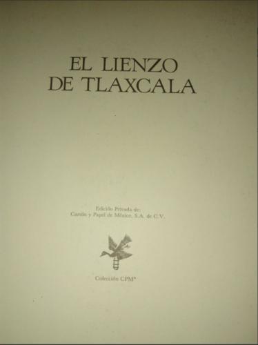El Lienzo de Tlaxcala : page de titre