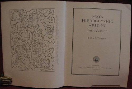 Maya hieroglyphic writing : introduction : page de titre