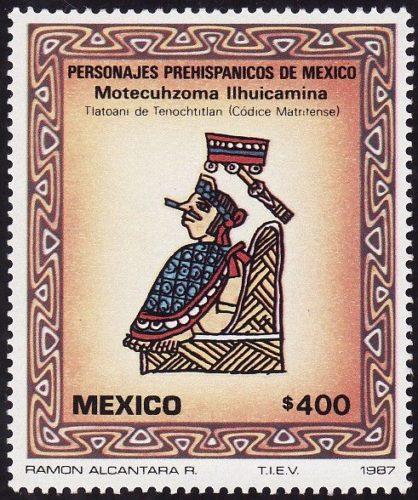 Motecuhzoma Ilhuicamina, tlaotani de Tenochtitla (Codice Matritense)