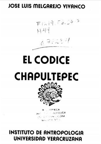 El códice Chapultepec