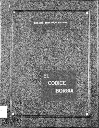 El códice Borgia