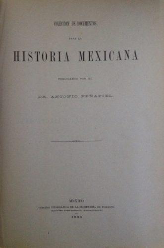 Colección de documentos para la historia mexicana
