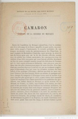 Camaron : épisode de la guerre du Mexique