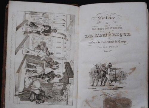 Histoire de la découverte de l'Amérique : page de titre
