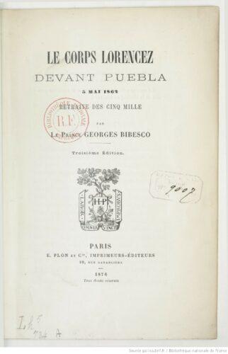 Le corps Lorencez devant Puebla, 5 mai 1862 : retraite des Cinq mille