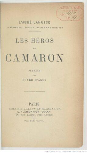Les héros de Camaron