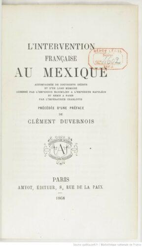 L'intervention française au Mexique
