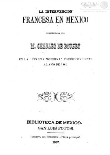 La intervención francesa en México