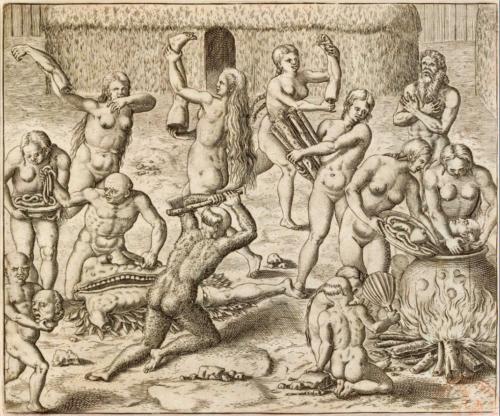Théodore de Bry (1528-1598), America pars quarta, Francfort, 1592, p. 127.
