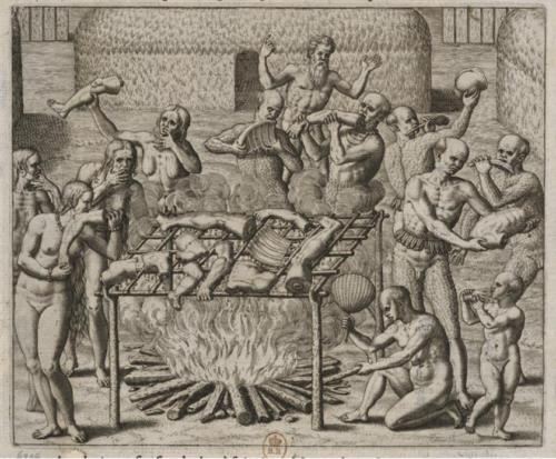Théodore de Bry (1528-1598), Americae tertia pars, 1592, p. 179.