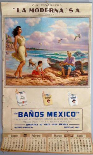 Calendrier pour les cigarettes La Moderna, Monterrey