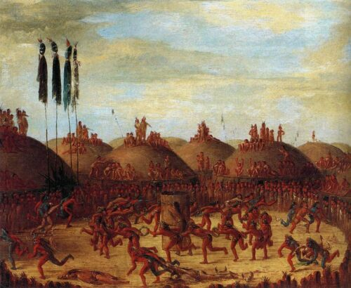 George Catlin, The Last Race, Mandan O-Kee-Pa Ceremony, 1832