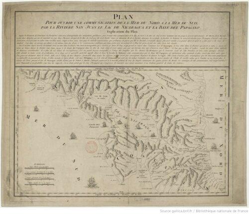 Plan pour ouvrir une communication de la mer du Nord à la mer du Sud par la rivière San Juan, le lac de Nicaragua et la baie del Papagaye