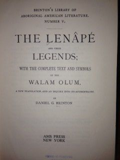 The Lenâpé and their legends