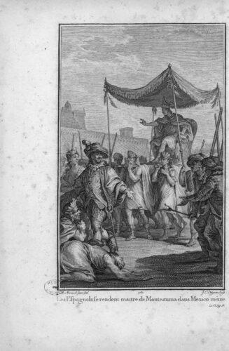 Les Eſpagnols ſe rendent maître de Montezuma dans Mexico même