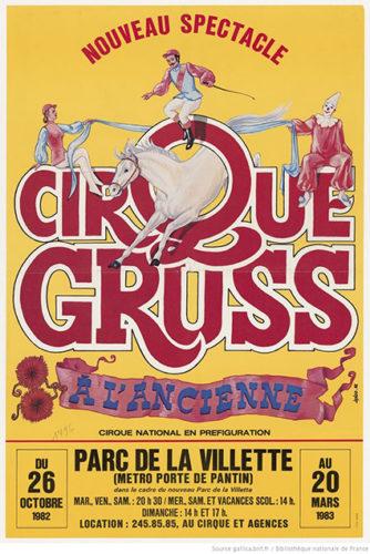 Affiche du Cirque Gruss, 1982