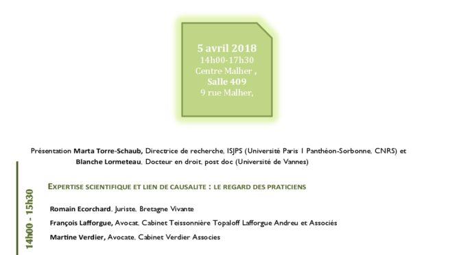 Séance 5 du séminaire Mobilisations du droit, Société civile et Environnement