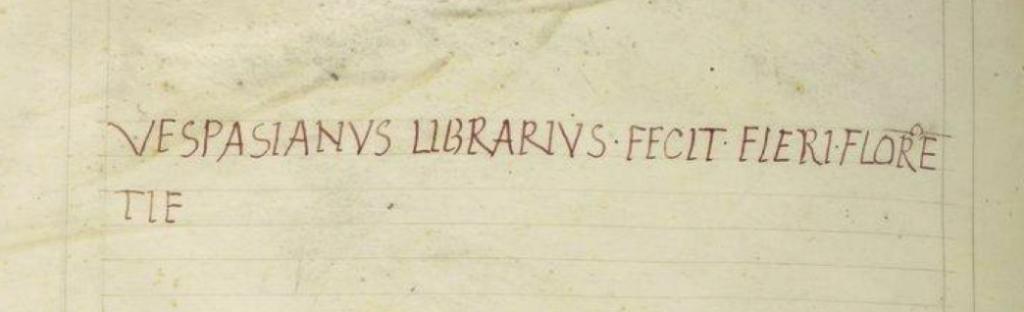 Une édition numérique des lettres de Vespasiano da Bisticci