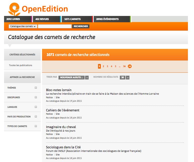 openedition-catalogue