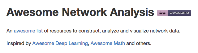 awesome-network-analysis