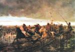 """""""La vuelta del malón"""", huile sur toile d'Angel Della Valle, 1892."""