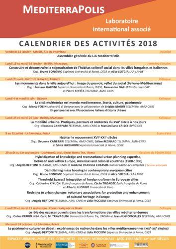 Affiche du programme du LIA MediterraPolis pour 2018