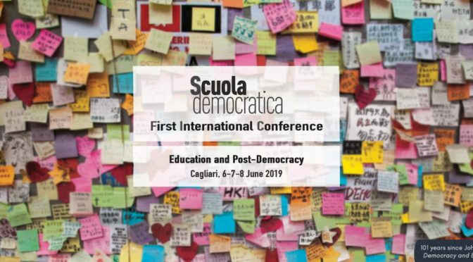 « Education, cultural heritages and the Mediterranean space », session du colloque Scuola Democratica (Cagliari, 6-8 juin 2019)
